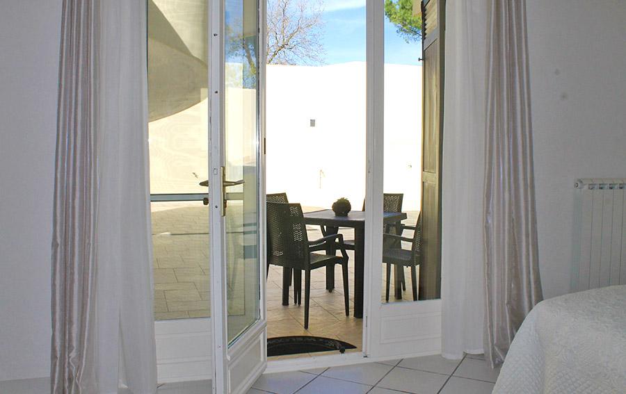 Camera Ulivo - Porta finestra e veranda